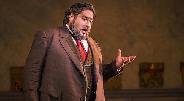 Nicola Alaimo, il baritono protagonista con Remo Girone delle Grandi Scene Rossiniane, a Pesaro, il 16 agosto