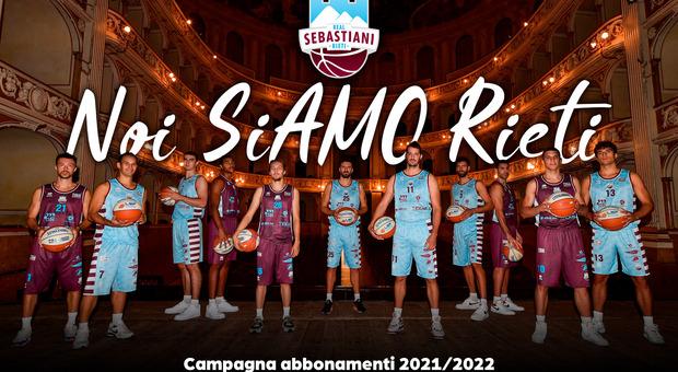 """Real Sebastiani, """"Noi siAMO Rieti"""". Al via la campagna abbonamenti della stagione 2021/22"""