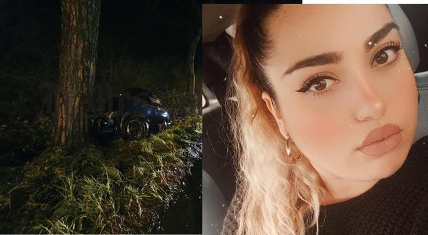 Latina, auto si schianta contro un albero: Maddalena muore a 25 anni