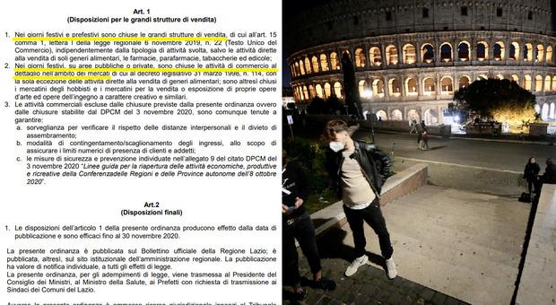 Ordinanza Lazio, mercati chiusi nei weekend. Zingaretti: «Stop anche ai maxi-store»