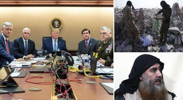 Al Baghdadi morto in un raid Usa in Siria, Trump: si è fatto esplodere con tre figli. Ucciso anche il braccio destro