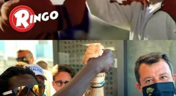 """Lega, slogan come Ringo"""": «Uniti si vince». Polemica social per la foto di Salvini: «Ma la Barilla lo sa?»"""