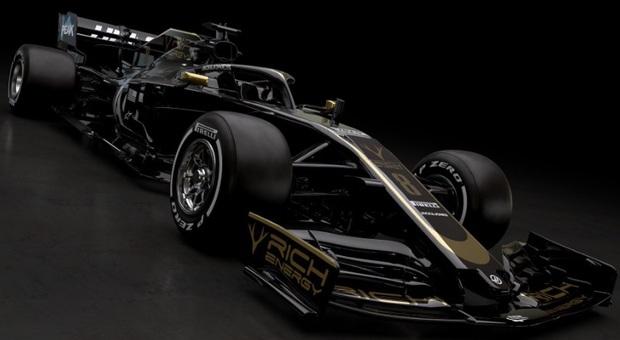 Formula1 Nera con oro e argento: svelata la Haas per il 2019