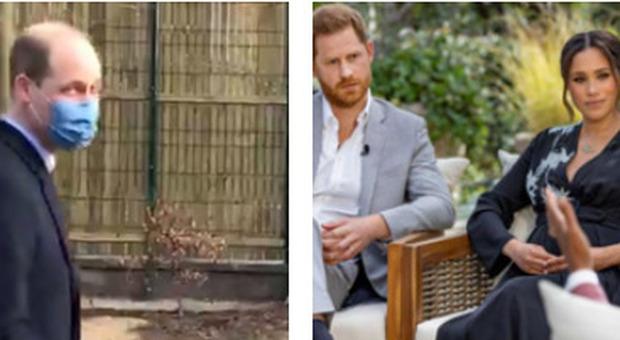 Harry e Meghan, William parla per la prima volta dopo l'intervista: «Non siamo una famiglia razzista»