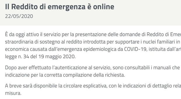 Reddito di emergenza, il 60% del sussidio al Sud. Importo medio 550 euro