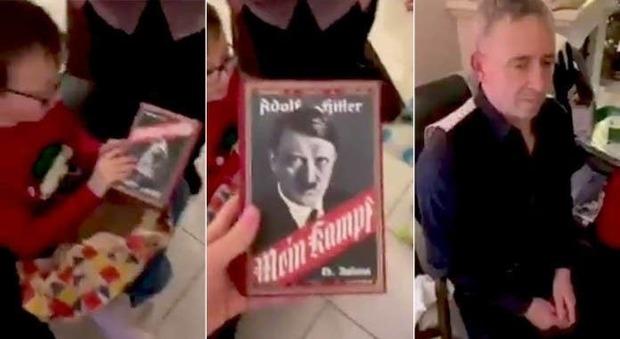 Il nonno regala al nipotino la copia del Mein Kampf di Adolf Hitler: «Mi aveva chiesto il videogioco Minecraft». Il video è virale