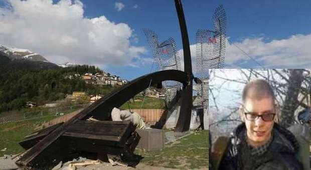 Nel riquadro Marco Gusmini (Foto dal quotidiano online Bergamonews)