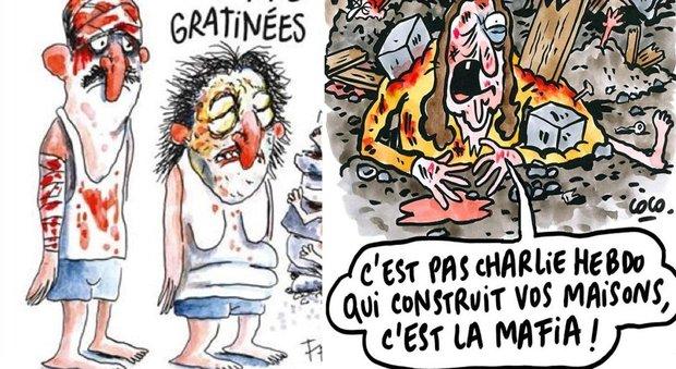 Charlie Hebdo, bufera per la vignetta sul terremoto in Italia