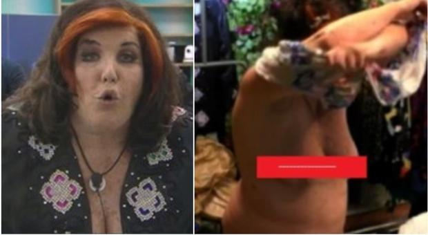 Patrizia De Blanck nuda al GfVip, il fuori di seno gela Barbara D'Urso che si era collegata