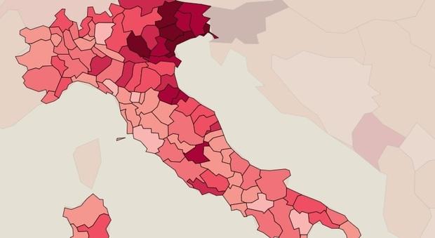 Covid, effetto Natale sui contagi: boom Lombardia e Sicilia. Belluno, Rieti e Messina le province più colpite