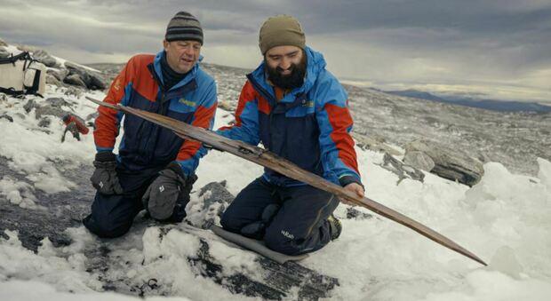 Il momento in cui lo sci è stato girato (foto: Andreas Christoffer Nilsson, Secretsoftheice.com)