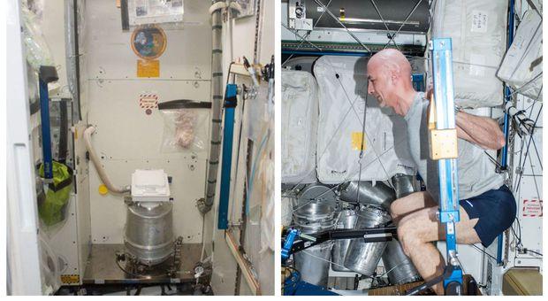 Stazione spaziale, il problema del comandante Parmitano: «Houston, sono rotte le toilette, indossiamo i pannoloni»
