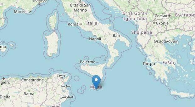 Terremoto nel Canale di Sicilia di 4.2: epicentro a 6 chilometri di profondità
