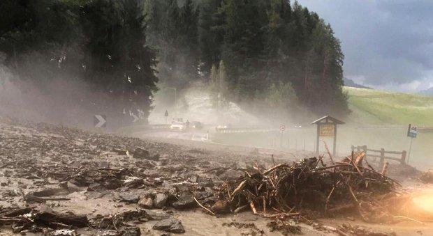 Dalla pagina Facebook dei vigili del fuoco i danni causati nell'Alta Val Pusteria