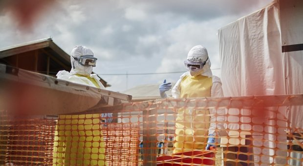 Un centro di cura dell'Ebola in Congo