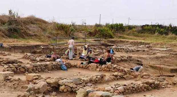 l'area archeologica di Gravisca a Tarquinia