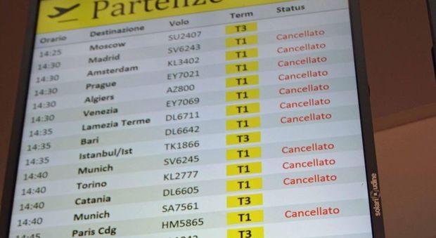 Sciopero aerei oggi: tutti i voli cancellati a Palermo