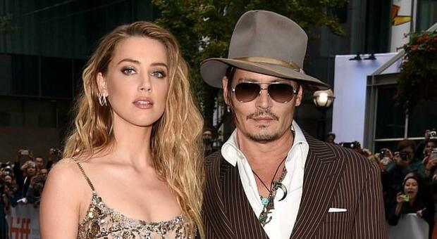 Amber Heard con l'ex marito Johnny Depp