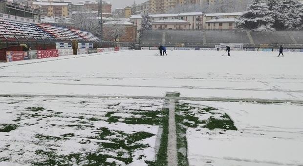 Potenza-Ternana: la partita è rinviata per il campo innevato