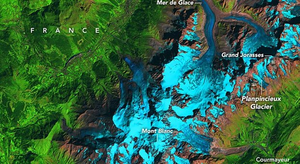 Ghiacciaio Monte Bianco, settore franoso accelera: fino a un metro al giorno