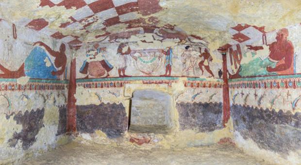 Tarquinia, Tomba delle Leonesse (VI sec. a.C.)