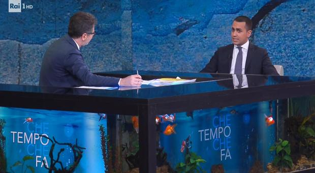 Di Maio ospite di Fazio: «La flat tax non deve aiutare i ricchi, niente patrimoniale e l'iva non aumenta»