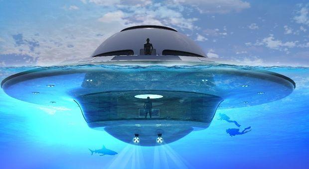 Si chiama Ufo, ma è una casa galleggiante extralusso per metà sott'acqua