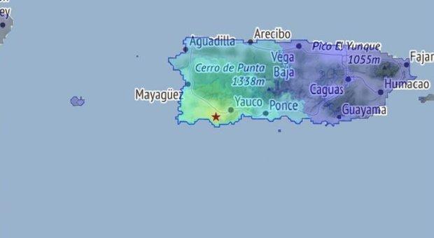 Terremoto a Portorico di 4.9, poi altre dieci scosse: paura tra la popolazione