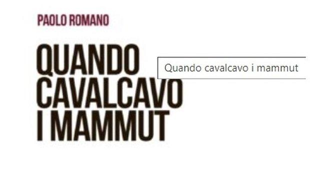 La didascalia del nuovo libro di Paolo Romano