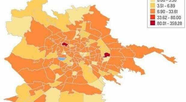 Cartina Roma Nord.Covid A Roma La Nuova Mappa Del Contagio Ostia Record Boom Nelle Zone Della Movida