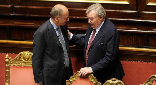 Carlo Rubbia in Senato con Enrico Letta