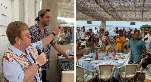 Cannes, Elton John improvvisa un concerto in un ristorante a Cannes: per i presenti la nuova hit «Cold heart»