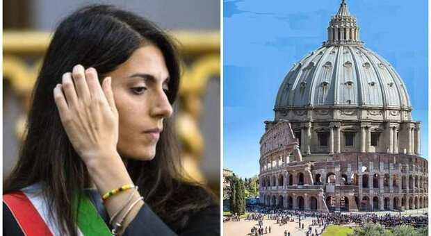 Roma, Virginia Raggi e «la Cupola del Colosseo»: nuova gaffe per la sindaca
