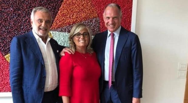 Nella foto Sergio Dompé ad di Dompé Holdings, Luigi Nicolais presidente Materias e Caterina Meglio ad di Materias