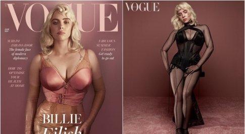 """Billie Eilish """"mai vista"""" sulla copertina di Vogue: «Faccio quello che mi pare»"""
