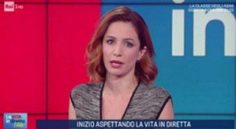 Andrea Delogu, annuncio a sorpresa a Vita in Diretta: «Domani non so se saremo in onda»