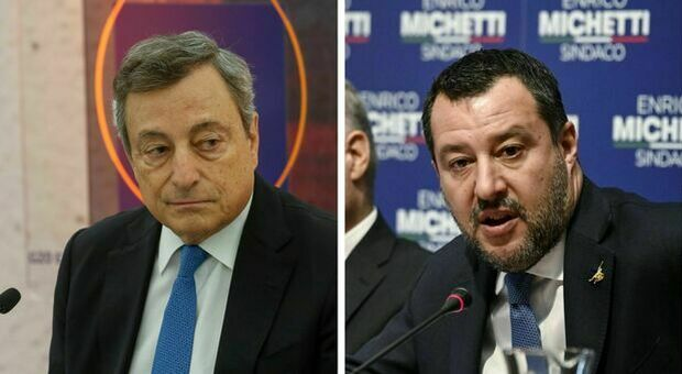 Salvini incontra Draghi a palazzo Chigi: «Dammi una mano a svelenire il clima»