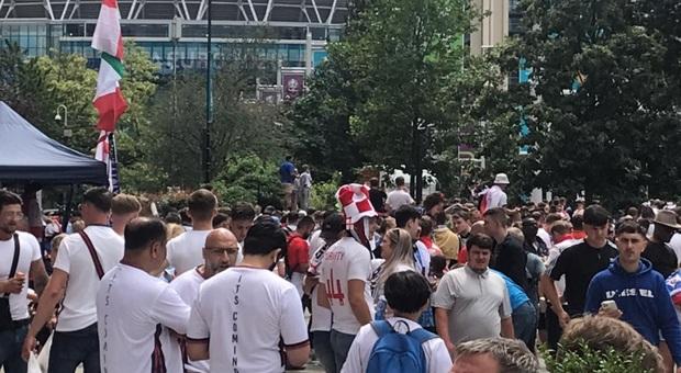 Finale Euro 2020, a Wembley previsti circa 70mila tifosi. Ma solo 7mila italiani...