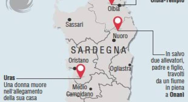 Cartina Sardegna Uras.Mappa Sardegna
