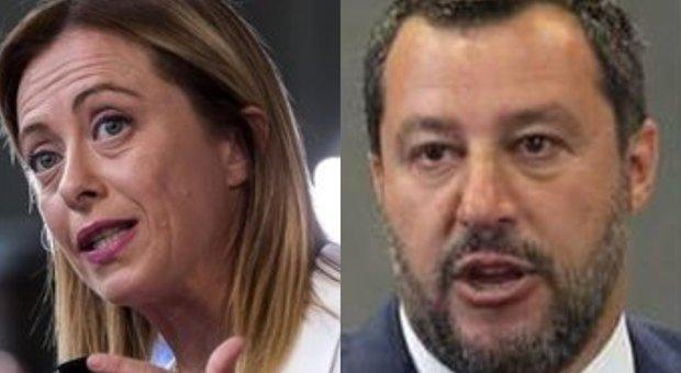 Matteo Salvini e Giorgia Meloni, ira su Conte. «Discorso da regime». «Premier tracotante»