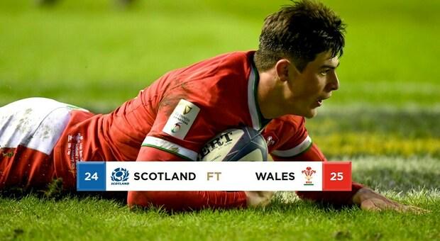 Clamoroso Galles, vince ancora con l'uomo in più ed è primo, Scozia ko 24-25