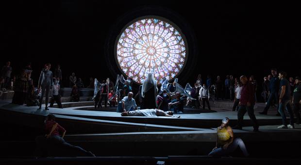 Un momento delle prove di Giovanna d'Arco al Teatro dell'Opera con la regia di Livermore
