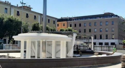 Terni, Fontana di Piazza Tacito: «Siamo ai ritocchi finali». Ma servono altri 79mila euro