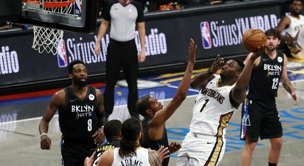 Nba, Durant assente da 23 gare entra e segna 17 punti: Pelicans battuti 139-111. I risultati delle partite