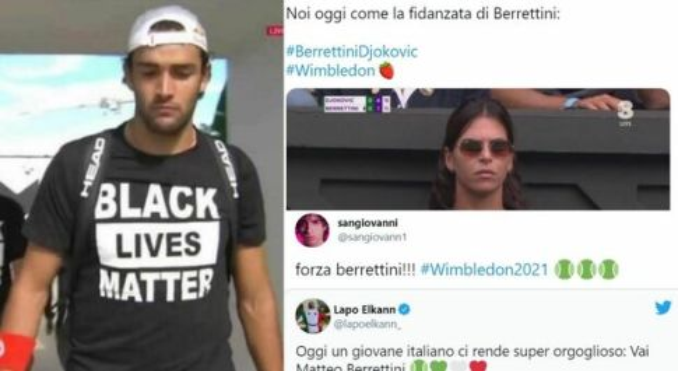 """Djokovic-Berrettini, i social applaudono la maglia """"Black Lives Matter"""" di Matteo"""