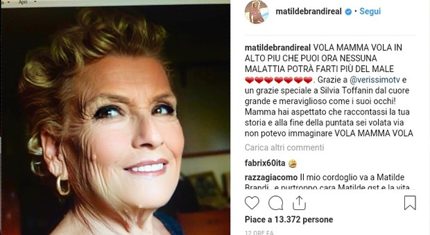 Matilde Brandi Mamma Ha Lalzheimer La Morte Poco Dopo L