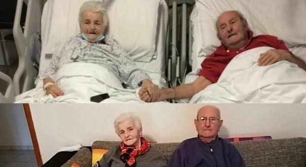 Ivo e Livia tornano a casa: i due 90enni hanno sconfitto il Covid tenendosi per mano
