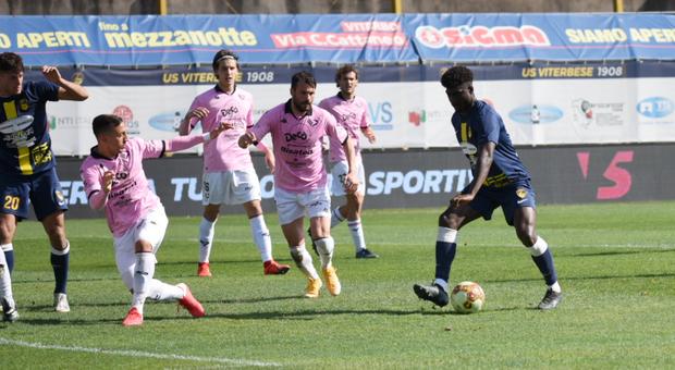 La Viterbese è di ferro: un gol di Adopo stende il Palermo