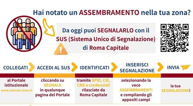 Coronavirus, «segnala un assembramento»: la nuova funzione sul sito del Comune di Roma
