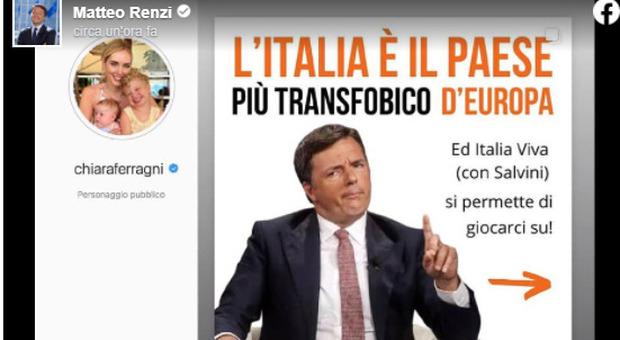 Ddl Zan, Chiara Ferragni contro Renzi: «Politici fate schifo». Lui replica: «Qualunquista». E Fedez attacca: «Fai pipì sulla testa degli italiani»